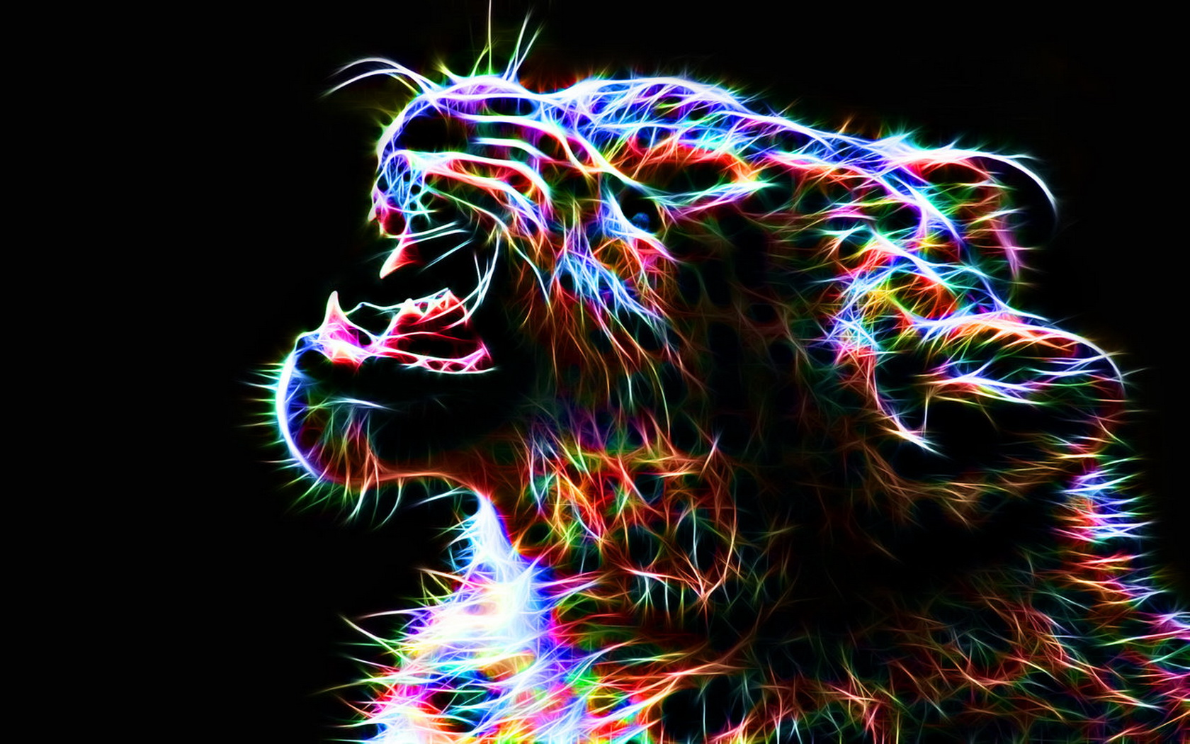 Colorful Leopard Backgrounds Artistic   colorful leopard 1680x1050