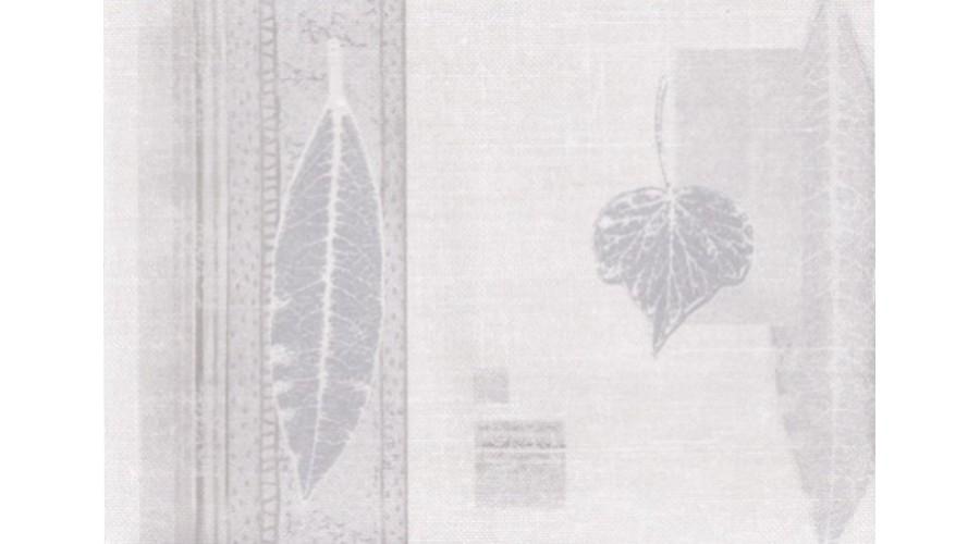 Home Silver Cream Nature Leaves Wallpaper Border 900x500