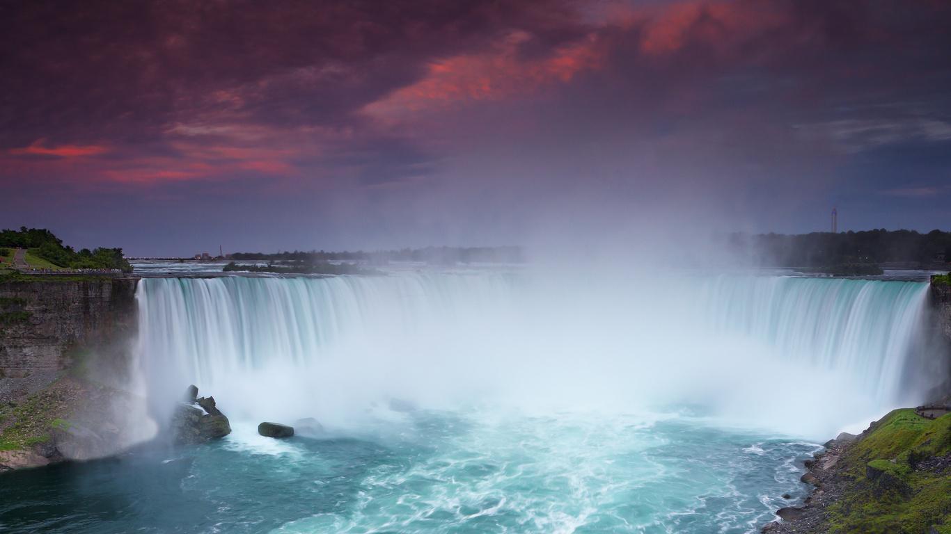Wallpaper Niagara Falls der Himmel Niagara Falls Natur groe auf 1366x768