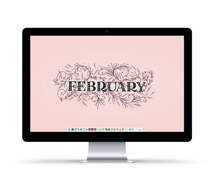 Freebie February 2018 Desktop Wallpapers   Every Tuesday 750x637