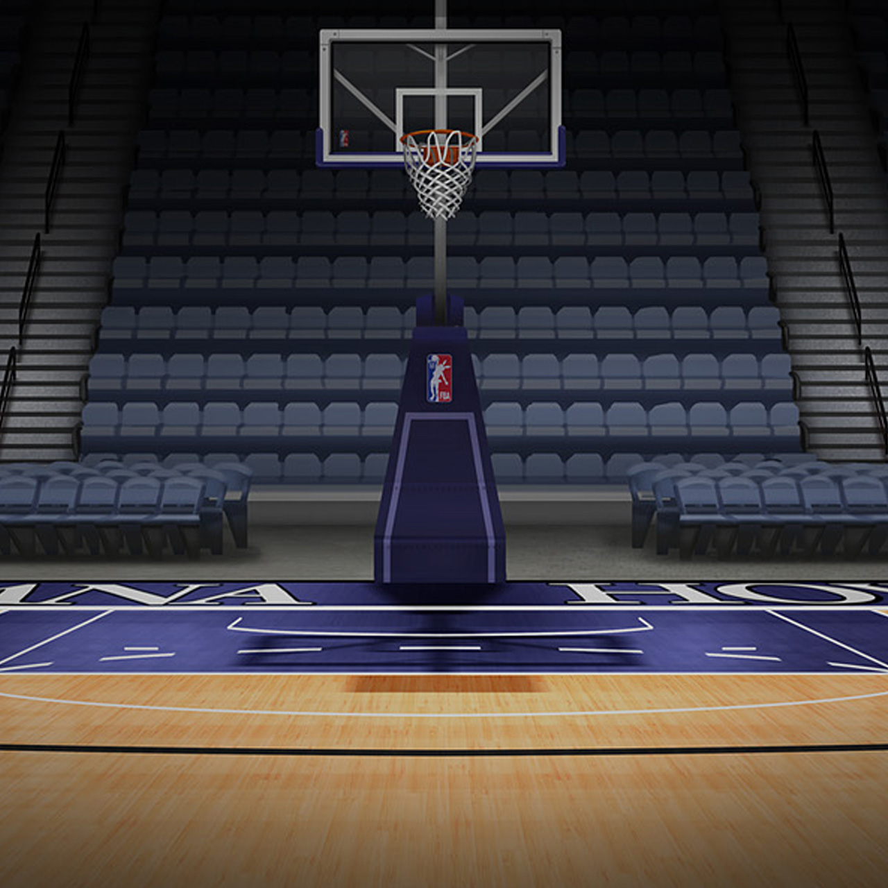 Basketball court wallpaper hd wallpapersafari for Free inside basketball courts