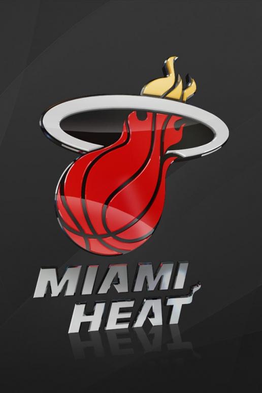 3D Miami Heat NBA Logo iPhone HD Wallpaper 516x774