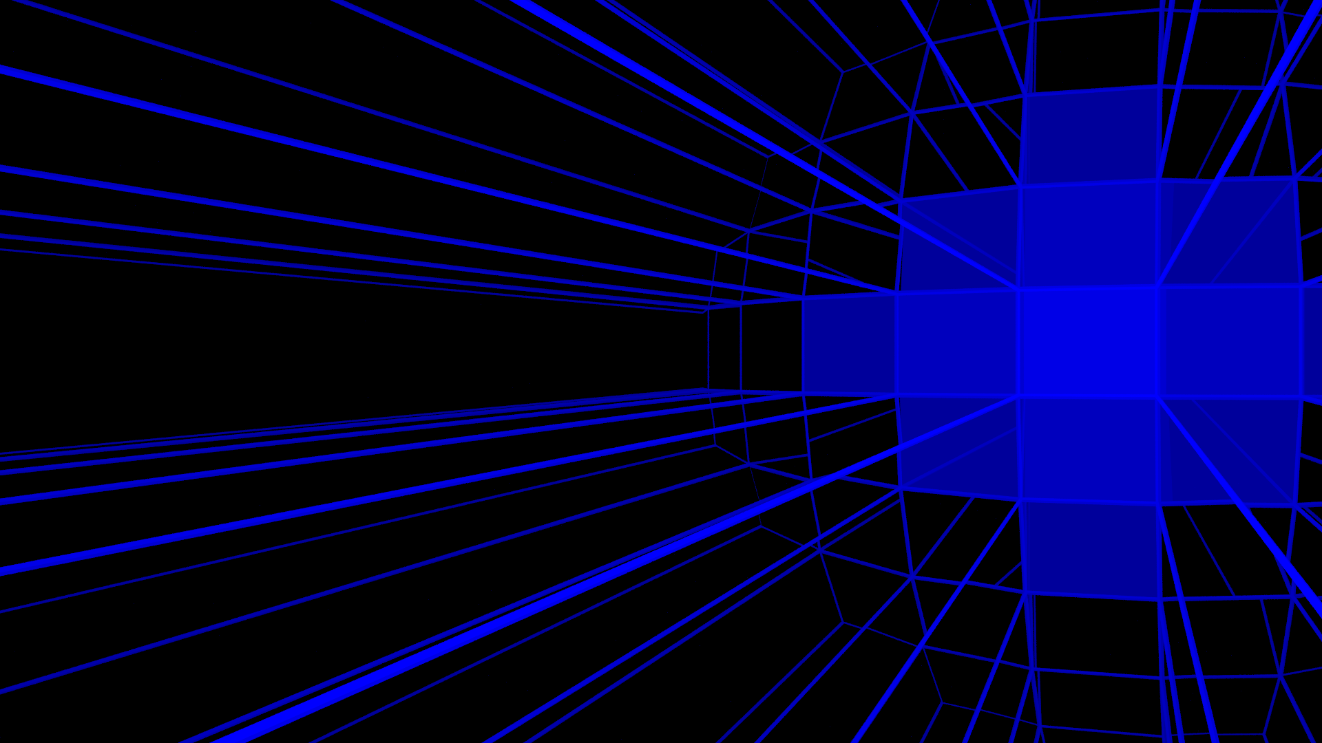 Home 3D Abstract 3d Blue Neon Wallpaper 1920x1080