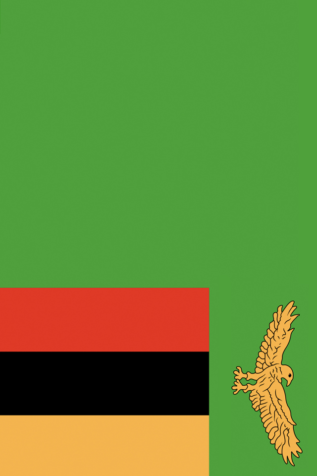 Zambia Flag iPhone Wallpaper HD 640x960