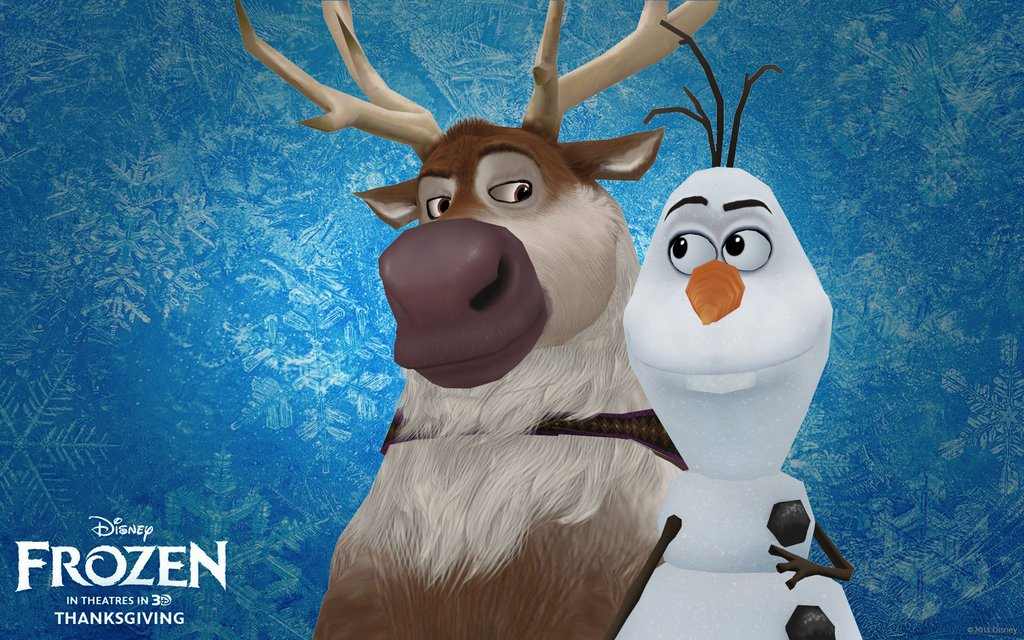 Frozen Olaf And Sven Wallpaper Mmd sven and olaf by 1024x640