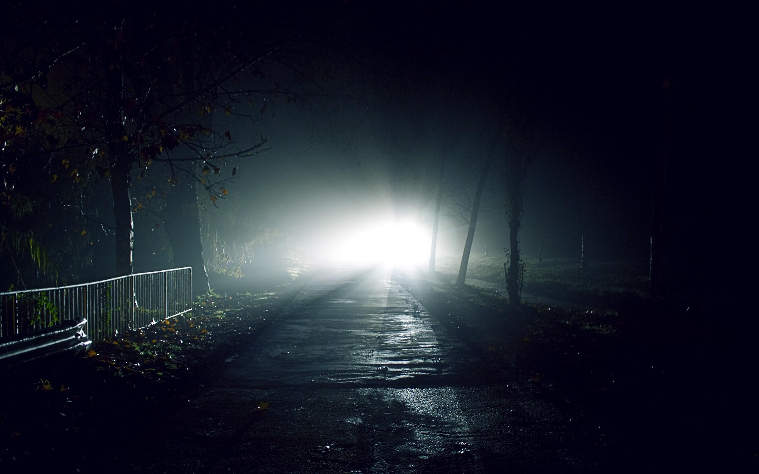 Dark Night Wallpaper 2560x1600 Dark Night Lights Roads Flash 2560x1600