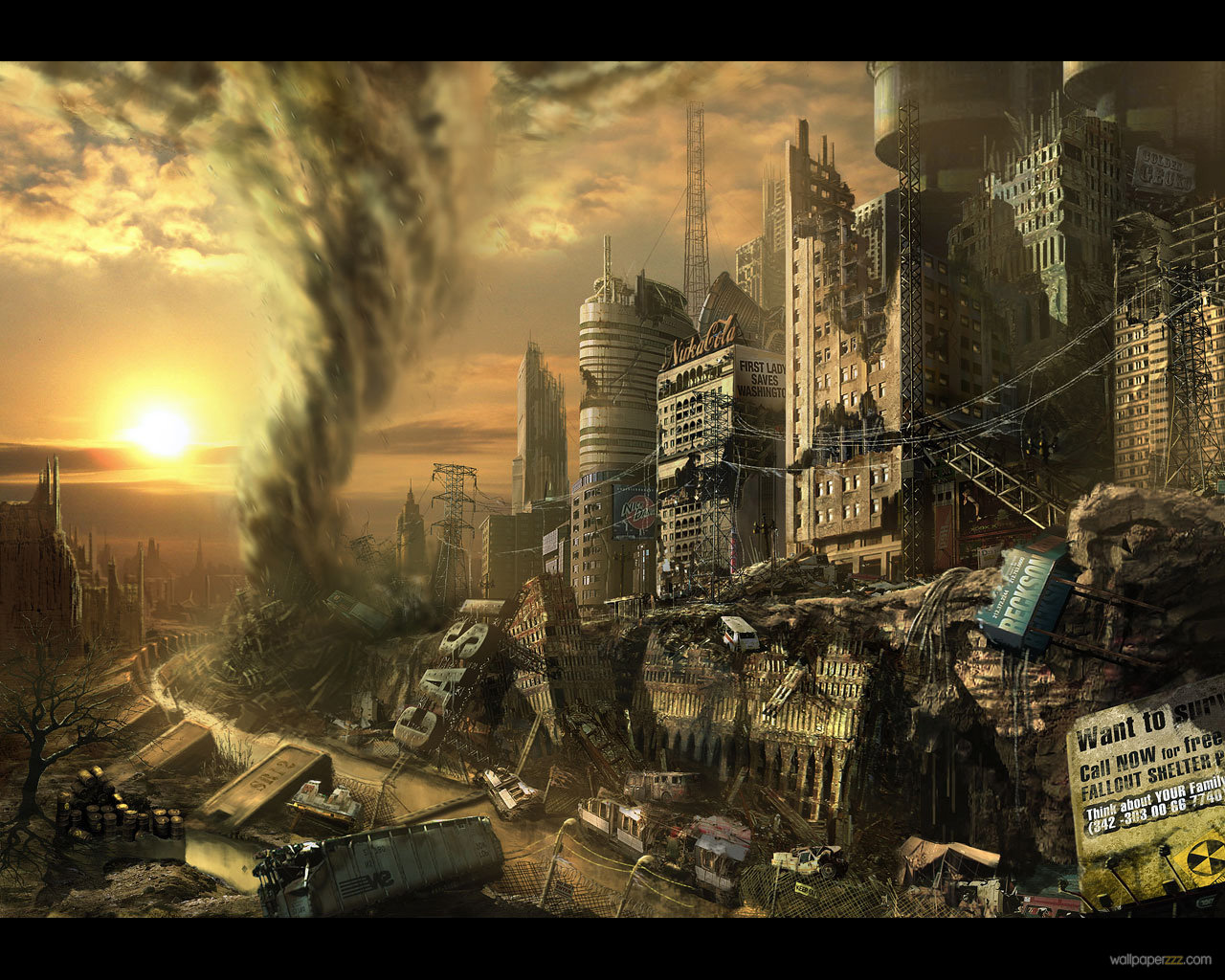 End of the World Background Download HD Wallpapers 1280x1024