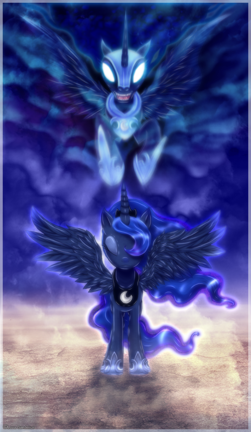 Mlp nightmare moon desktop wallpaper wallpapersafari - Princess luna screensaver ...