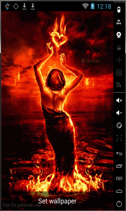 Download Land Of Fire Live Wallpaper for your Android phone 480x800