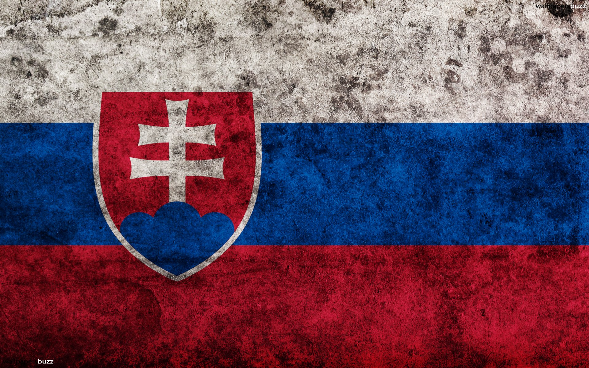 The traditional flag of Slovakia HD Wallpaper 1920x1200