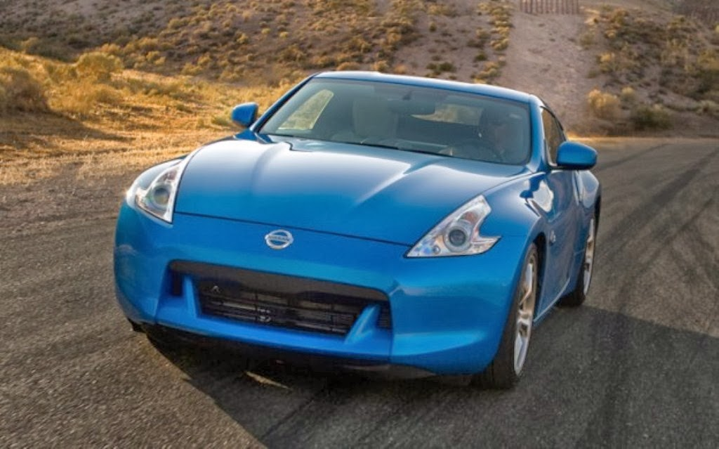 2014 Nissan 370Z Coupe Front Blue Body Sporty design car images 1024x639