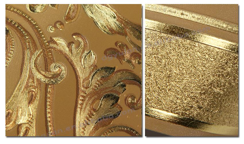 Luxury Metallic Laminated Embossed Vinyl Wallpaper Border 850x501