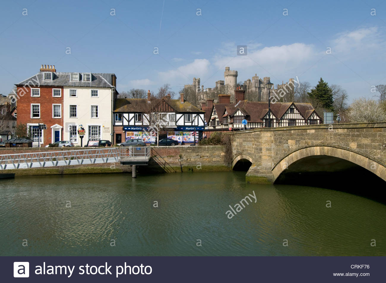 The centuries old arch bridge over the River Arun at ArundelWest 1300x953
