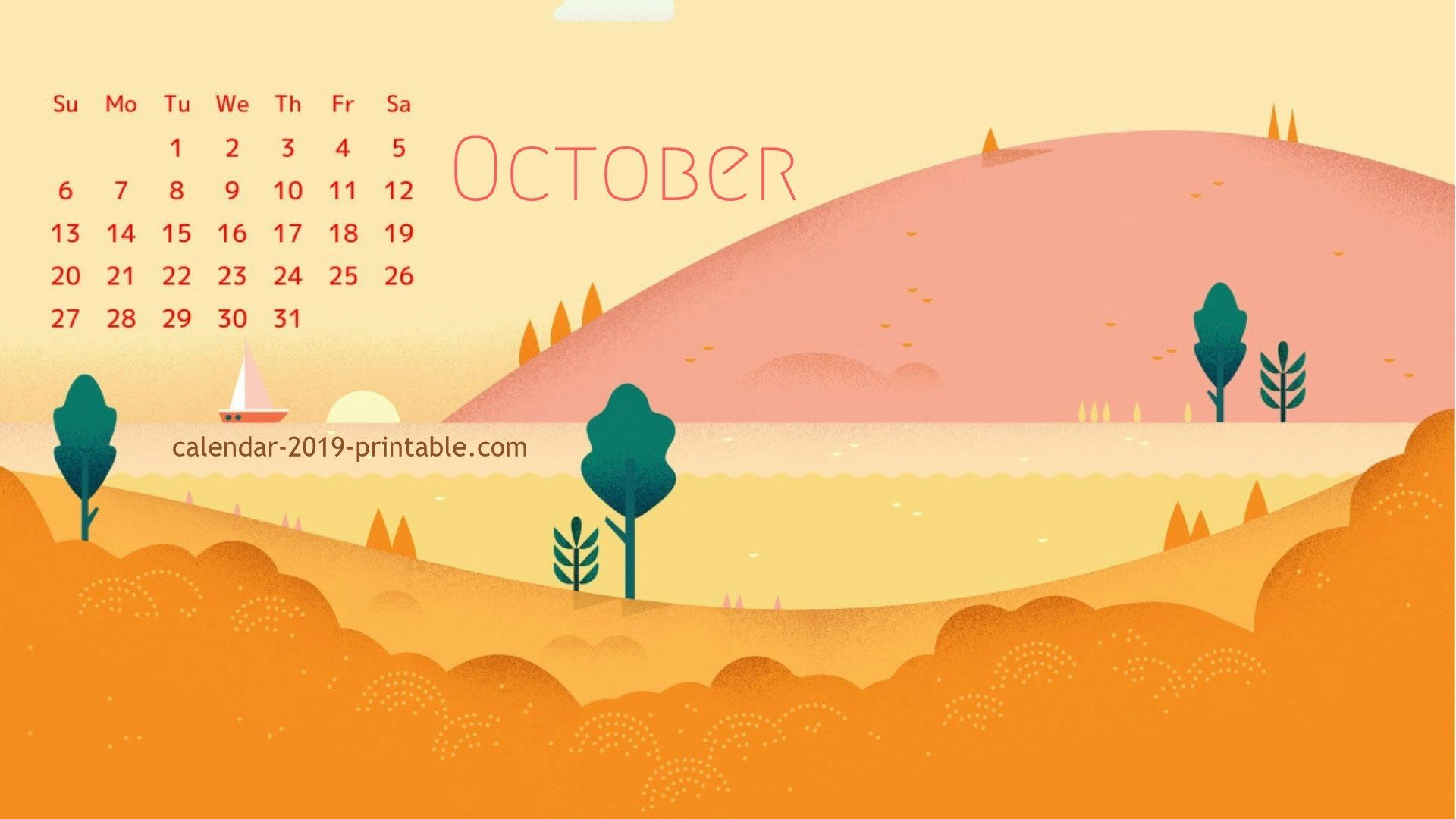 40 October 2019 Calendar Wallpapers On Wallpapersafari