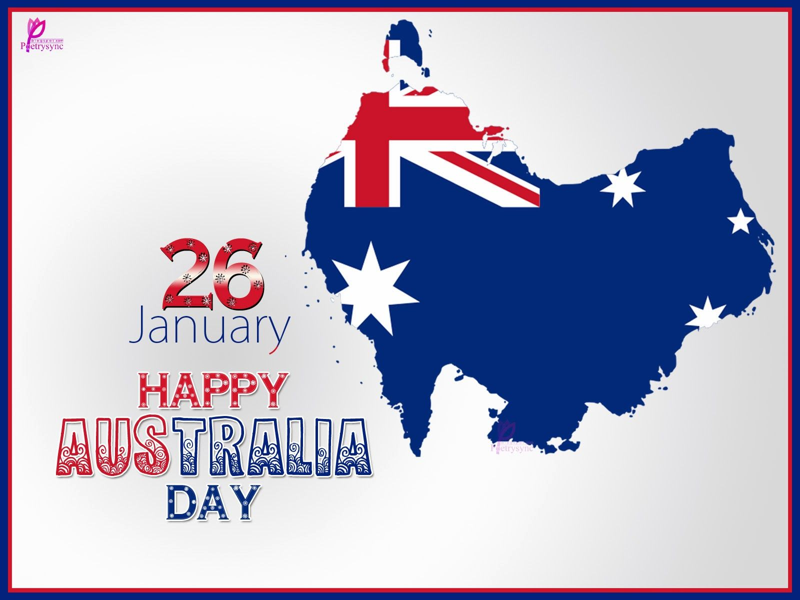 Happy Australia Day Greetings and Wishes Image Wallpaper 1600x1200