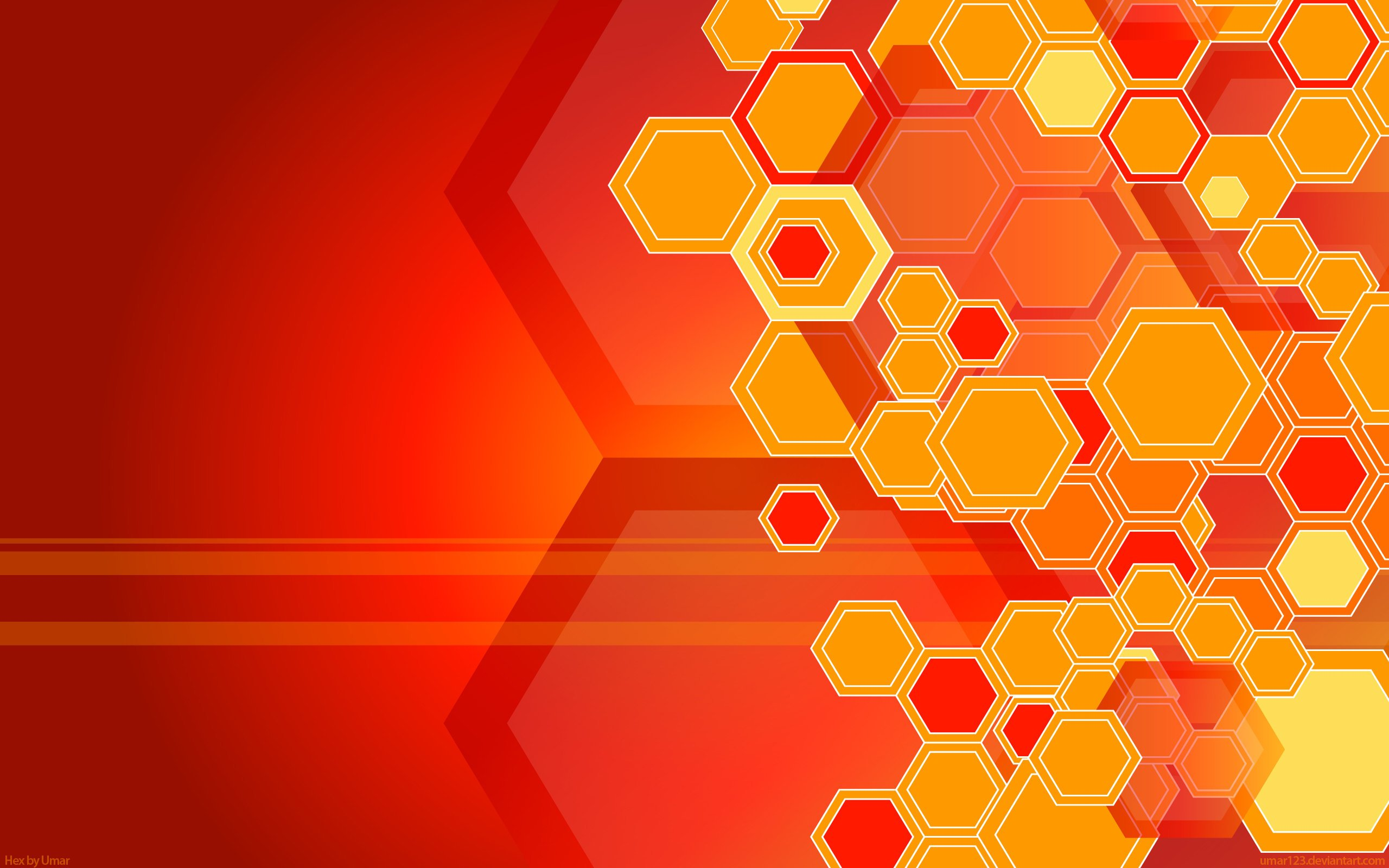 Red hexagon pattern wallpaper