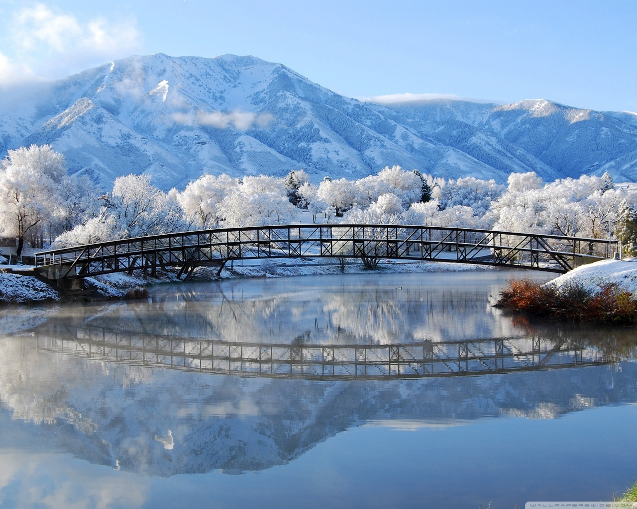 Beautiful Winter Scene 4K HD Desktop Wallpaper for 4K Ultra HD 1280x1024