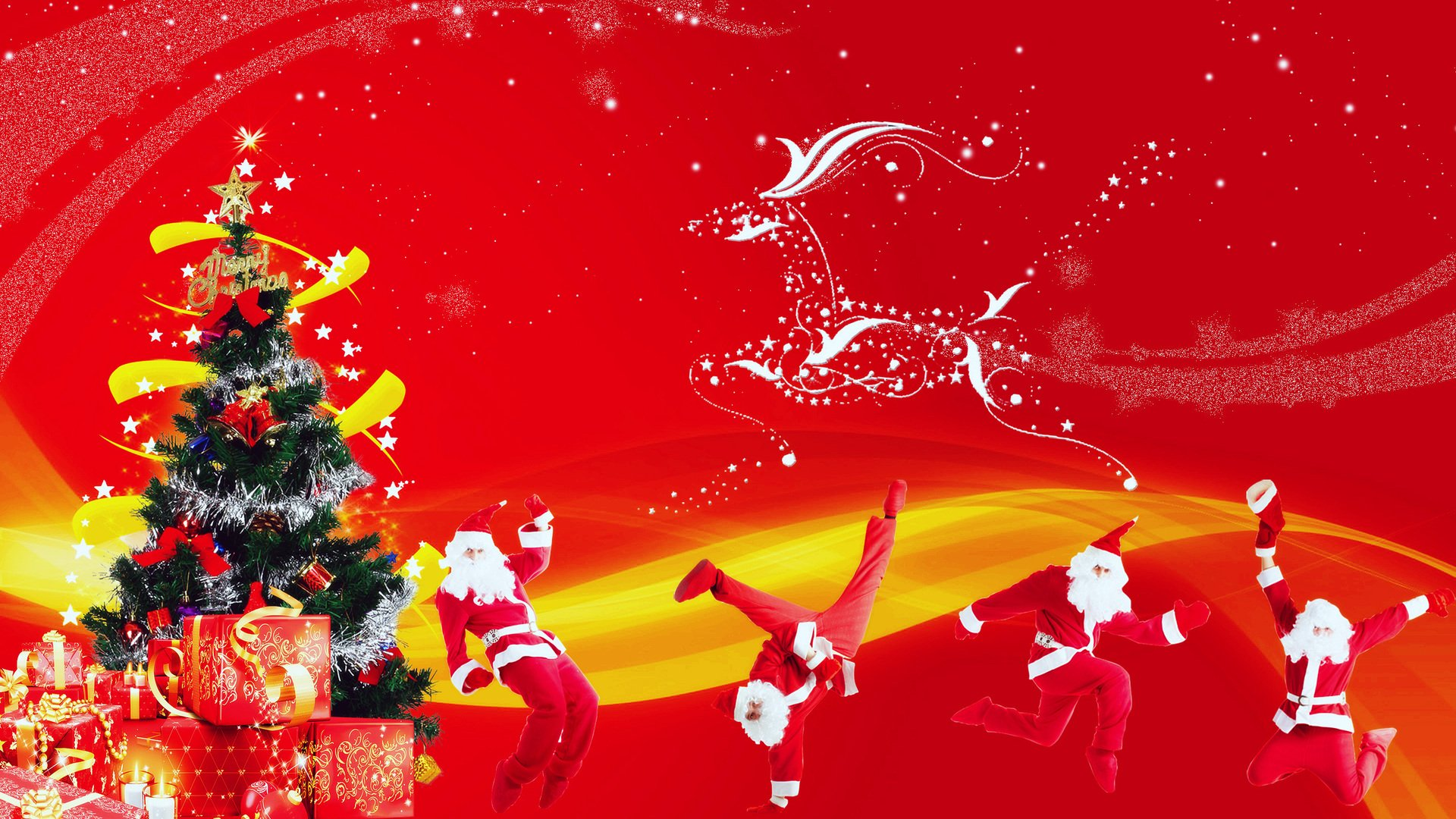 Download Funny Christmas Wallpaper Funny Christmas Santa Claus 1920x1080