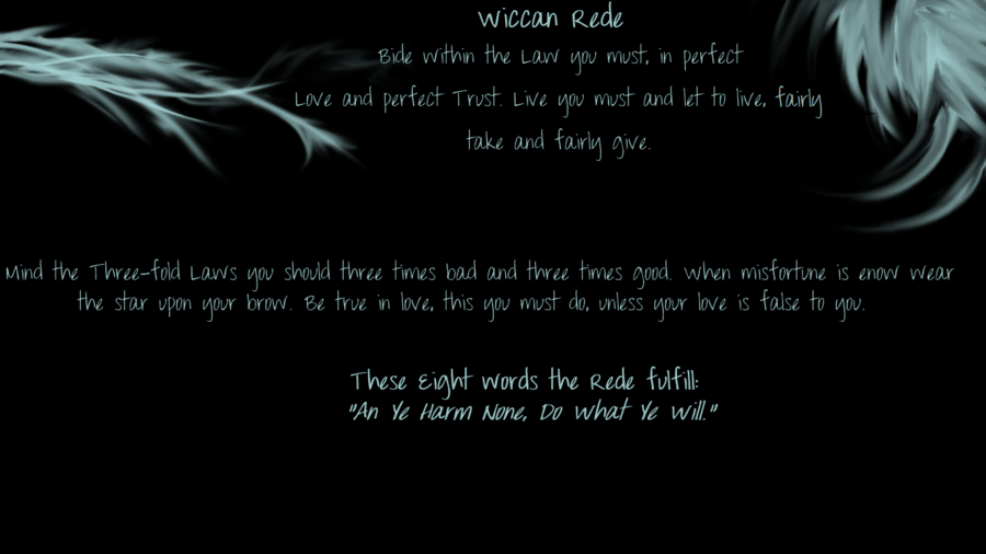 Wiccan Rede Wallpaper Background   wiccan rede 900x506