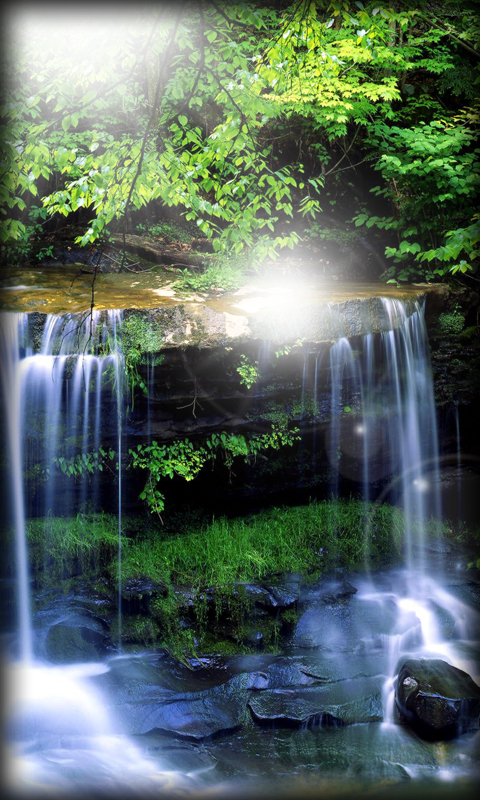 Waterfall Live Wallpaper app download for Android 480x800