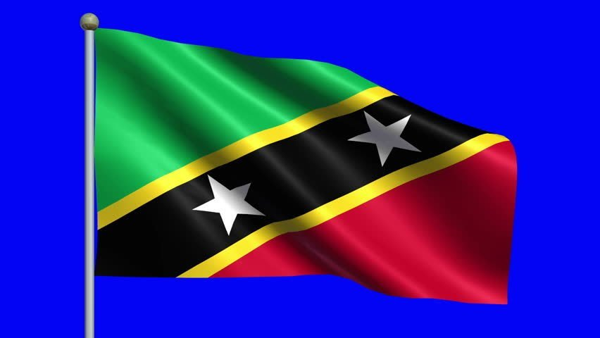 Flag Of Saint Kitts And Nevis Animation Loop Stock Footage Video 852x480