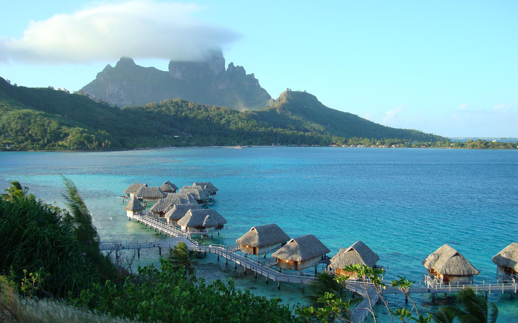 Bora Bora Island Wide Wallpaper   Travel HD Wallpapers 1680x1050