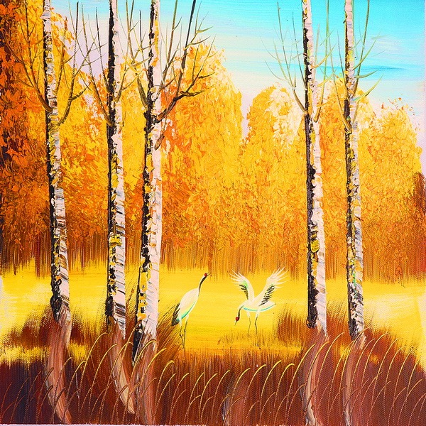 Washable Wall Mural Oil Painting Professional Wallpaper Manufacture in 600x600