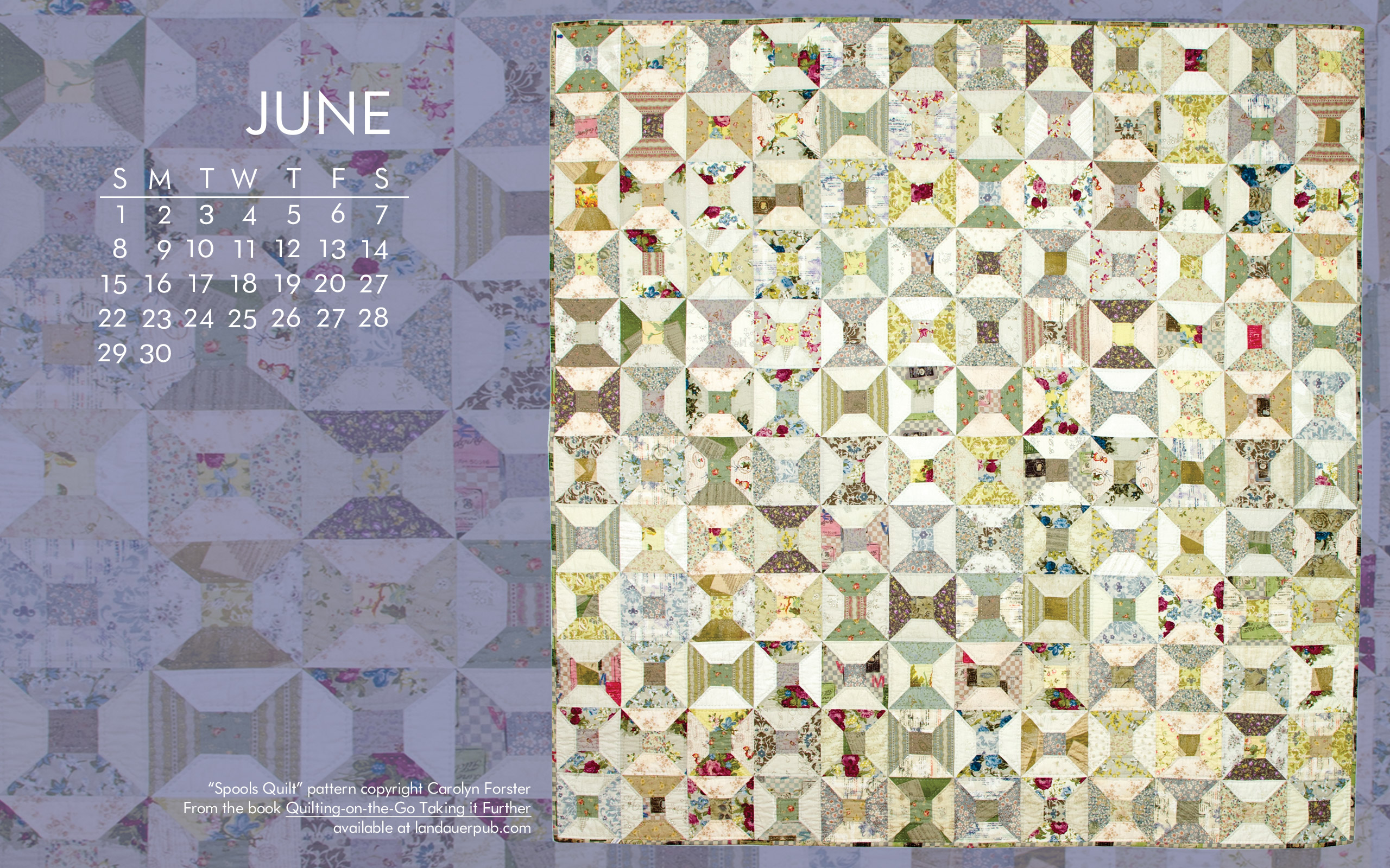 free quilt calendar computer wallpaper june quilt books beyond