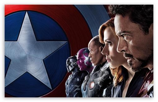Captain America Civil War Iron Man Team HD wallpaper for Standard 43 510x330