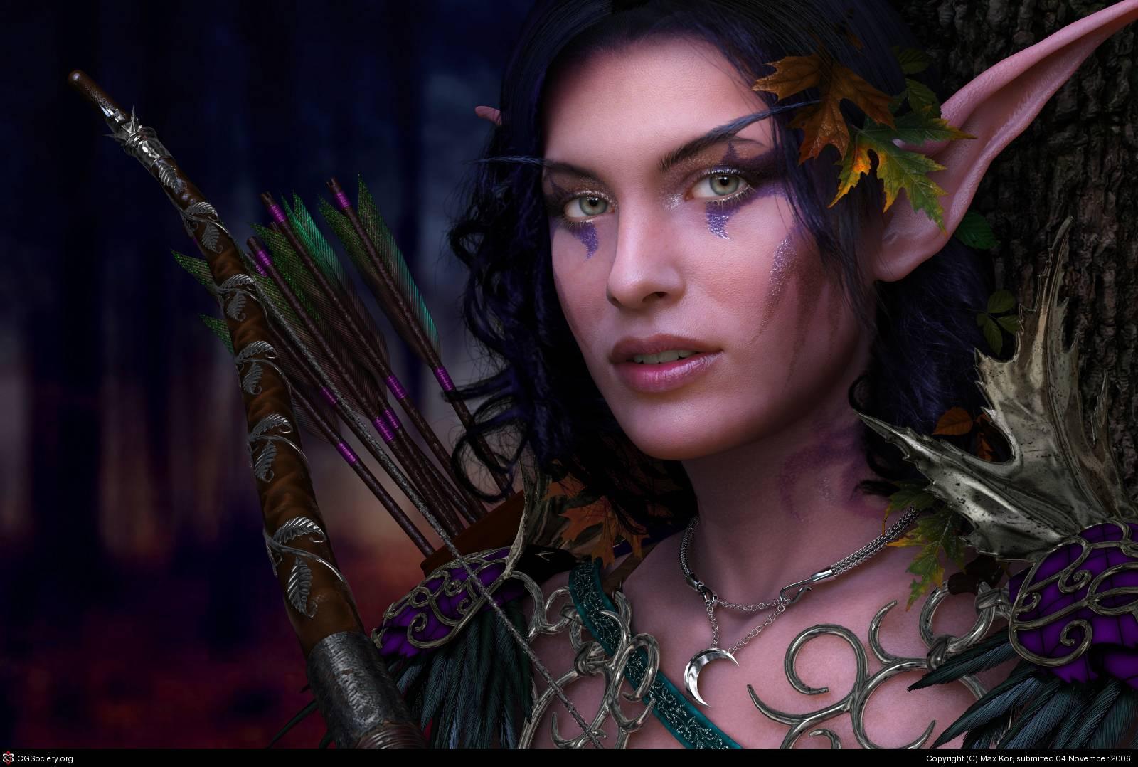 Elf Archer   Elves Wallpaper 1600x1078
