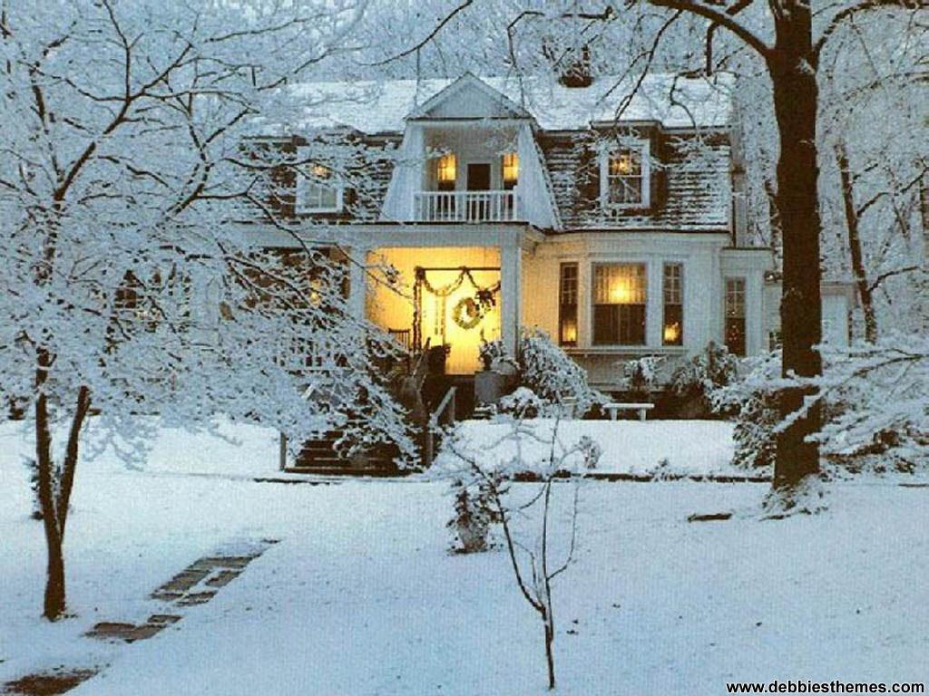 Winter Home Wallpaper   Christmas Photography Desktop Wallpapers 1024x768