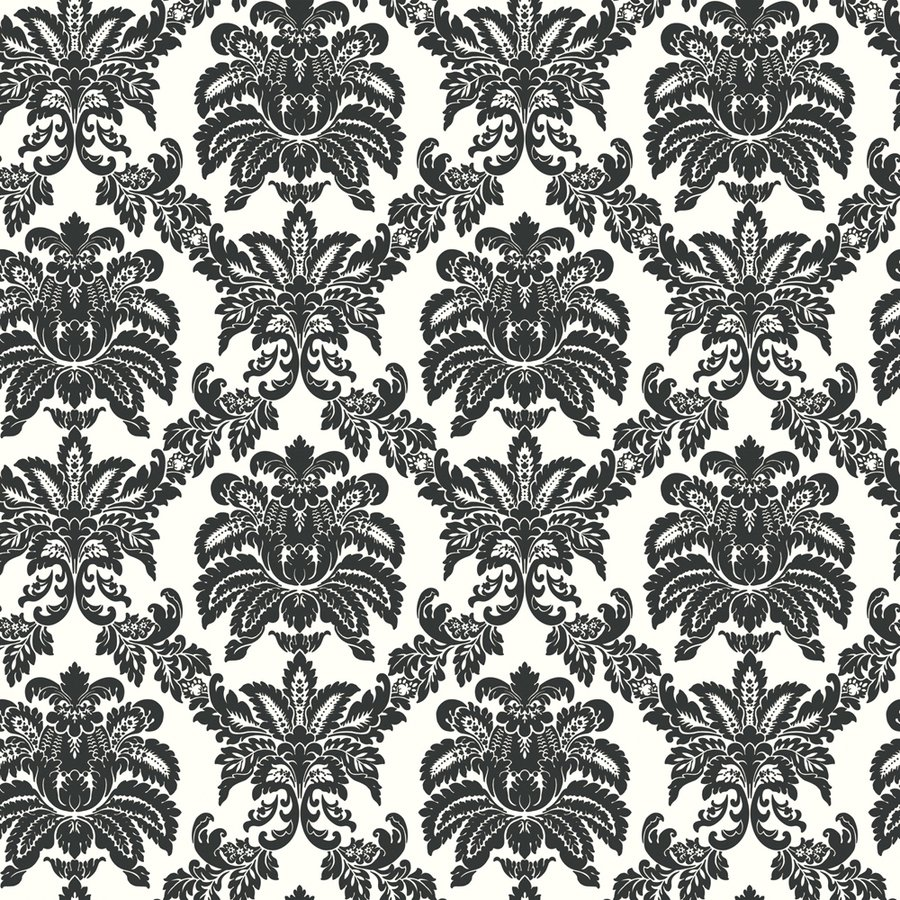 Damask Black Strippable Non Woven Prepasted Wallpaper Lowes Canada 900x900