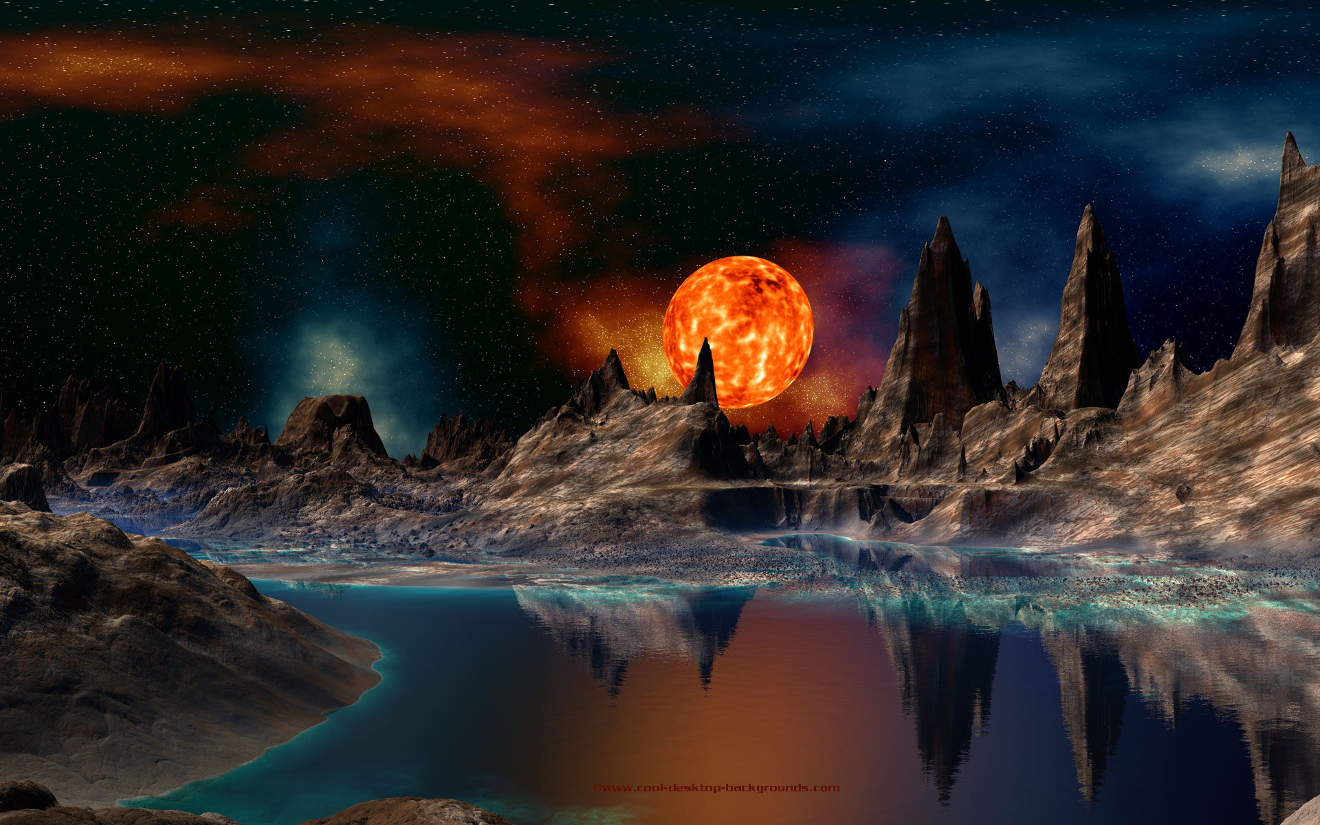 3d Space Background Wallpaper: 3D Space Desktop Wallpaper