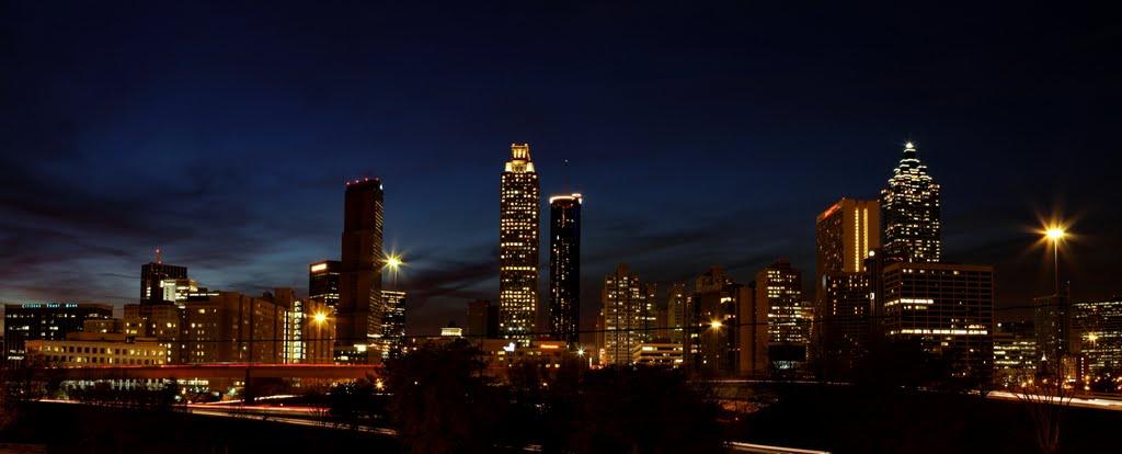 Safari In Ga >> Atlanta Skyline at Night Wallpaper - WallpaperSafari