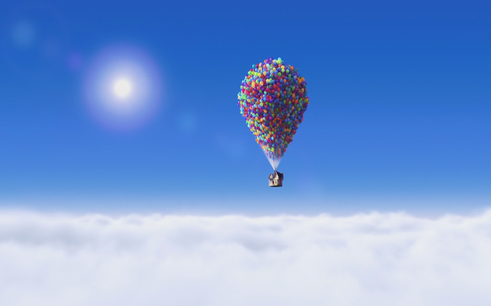 Pixar Up Balloons   Viewing Gallery 1680x1050