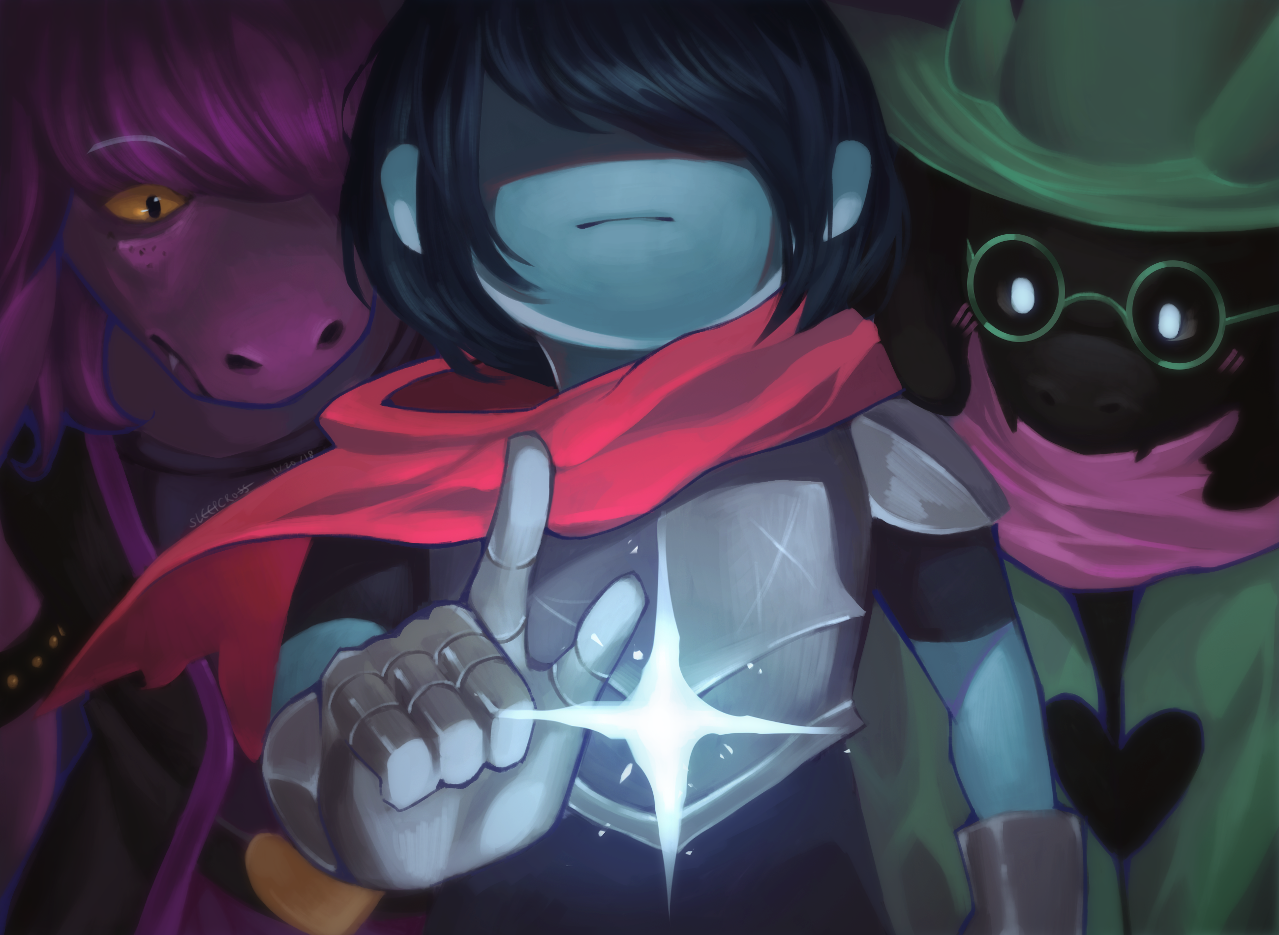 I drew a little Deltarune wallpaper Deltarune 2600x1900