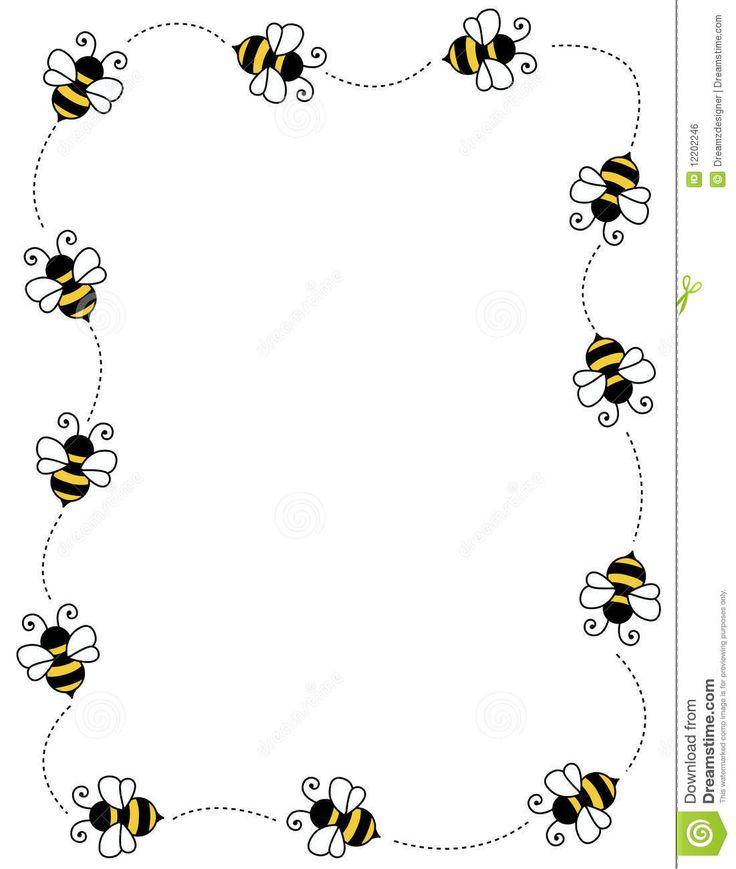 Spelling Bee Clip Art Borders 736x869