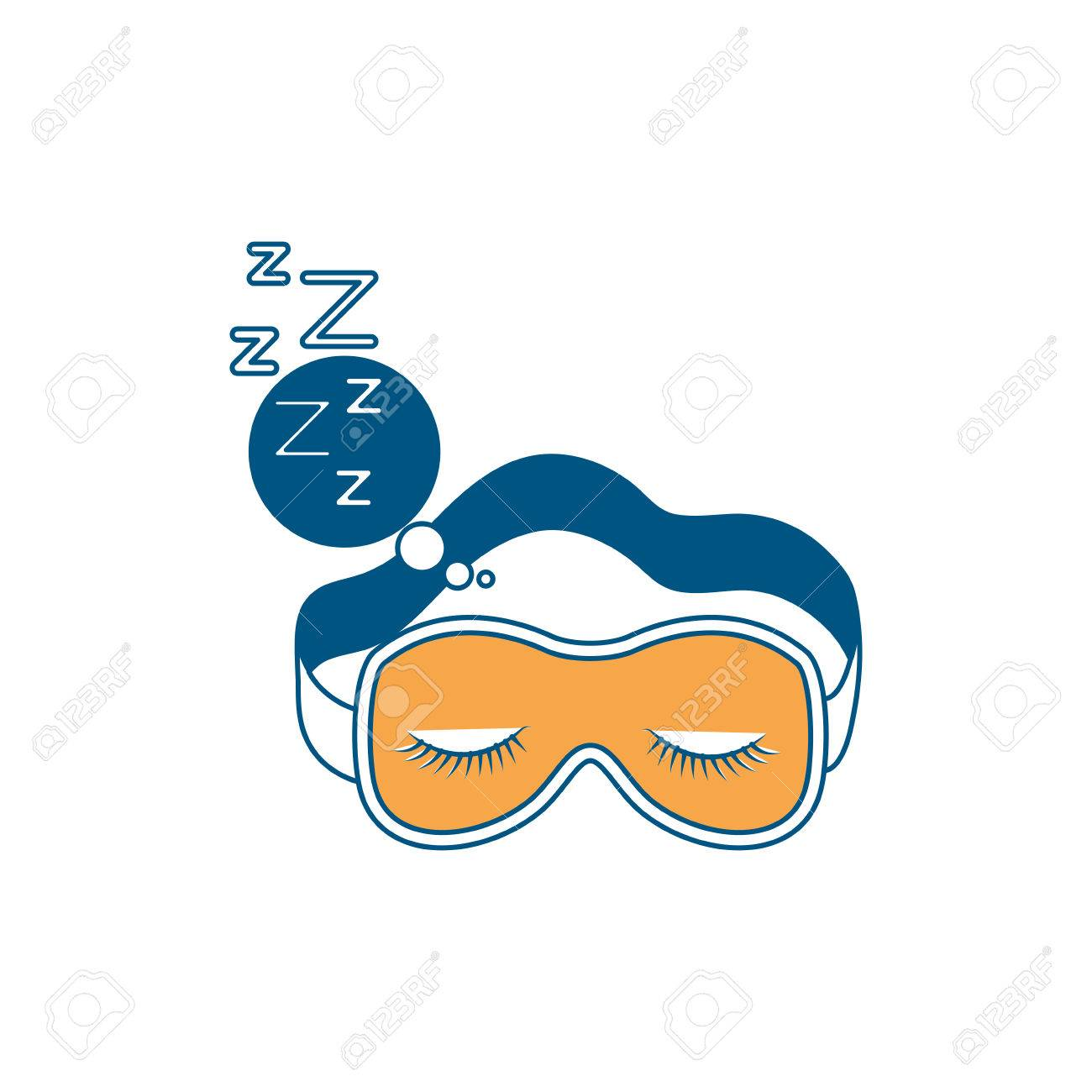 Sleep Mask With Snoring Sign In Bubble Callout Color Section 1300x1300