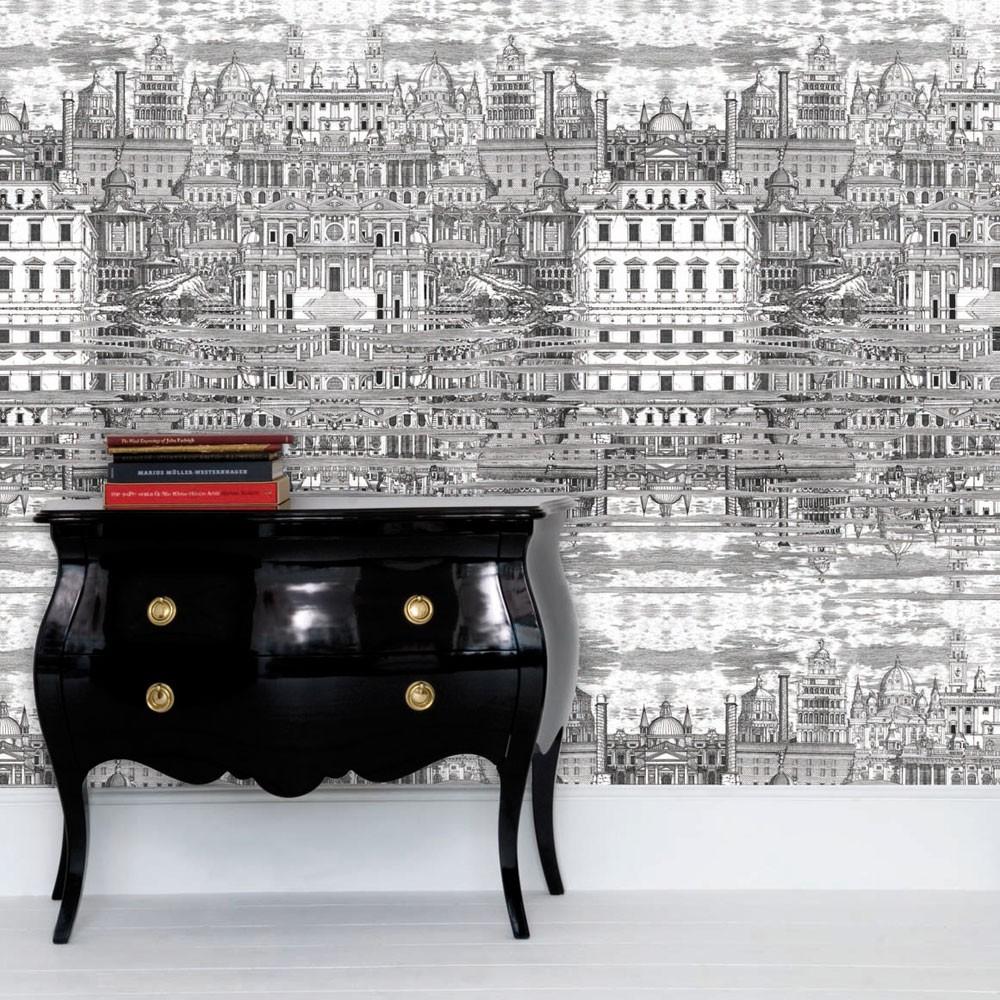 Fornasetti Riflesso Wallpaper Occa Home UK 1000x1000