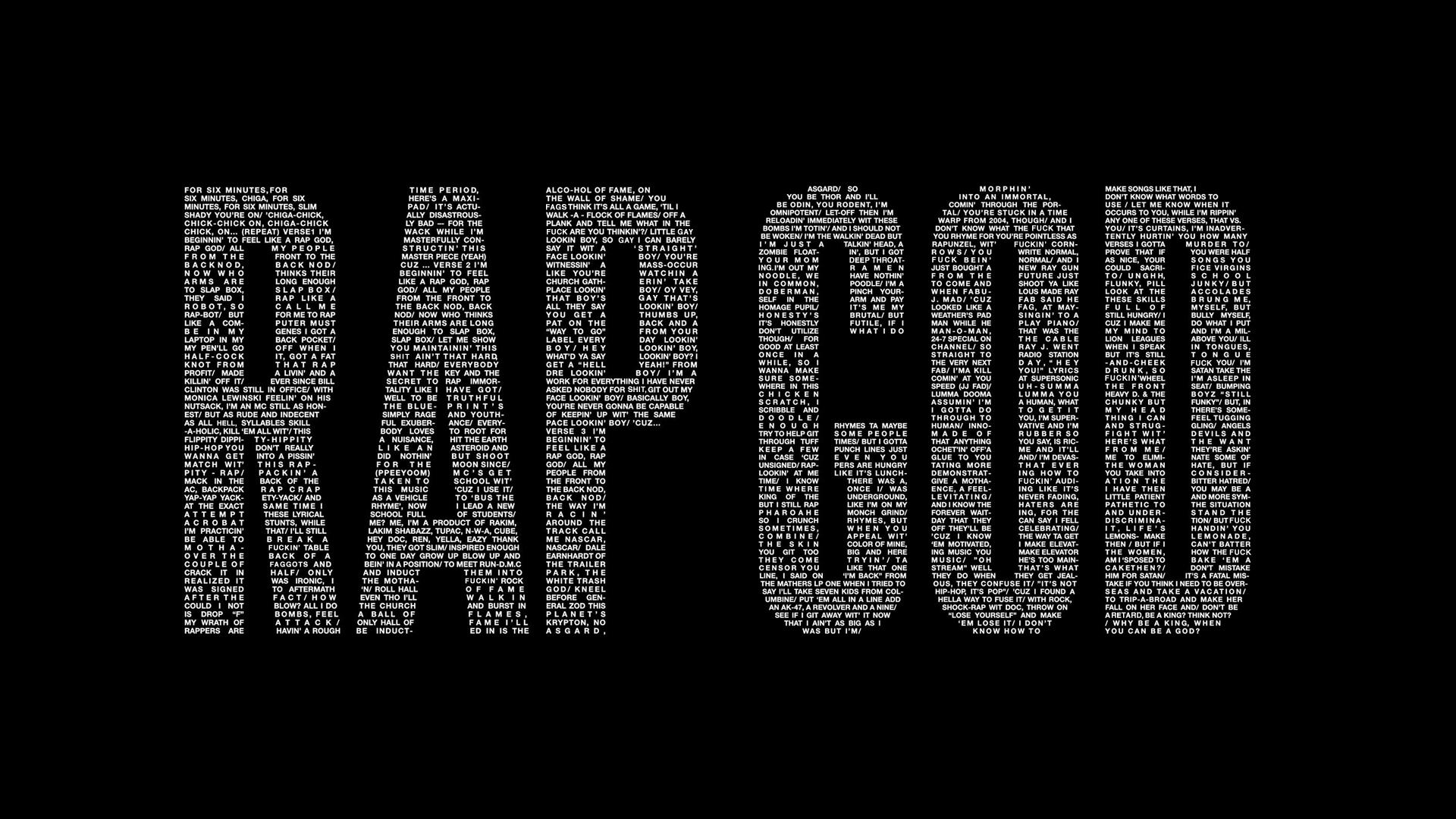rap god wallpaper black by edgarsvensson customization wallpaper other 1920x1080