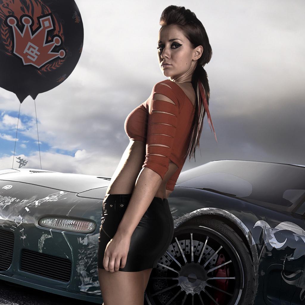 Speed Pro Street Girl iPad Wallpaper iPad Retina HD Wallpapers 1024x1024