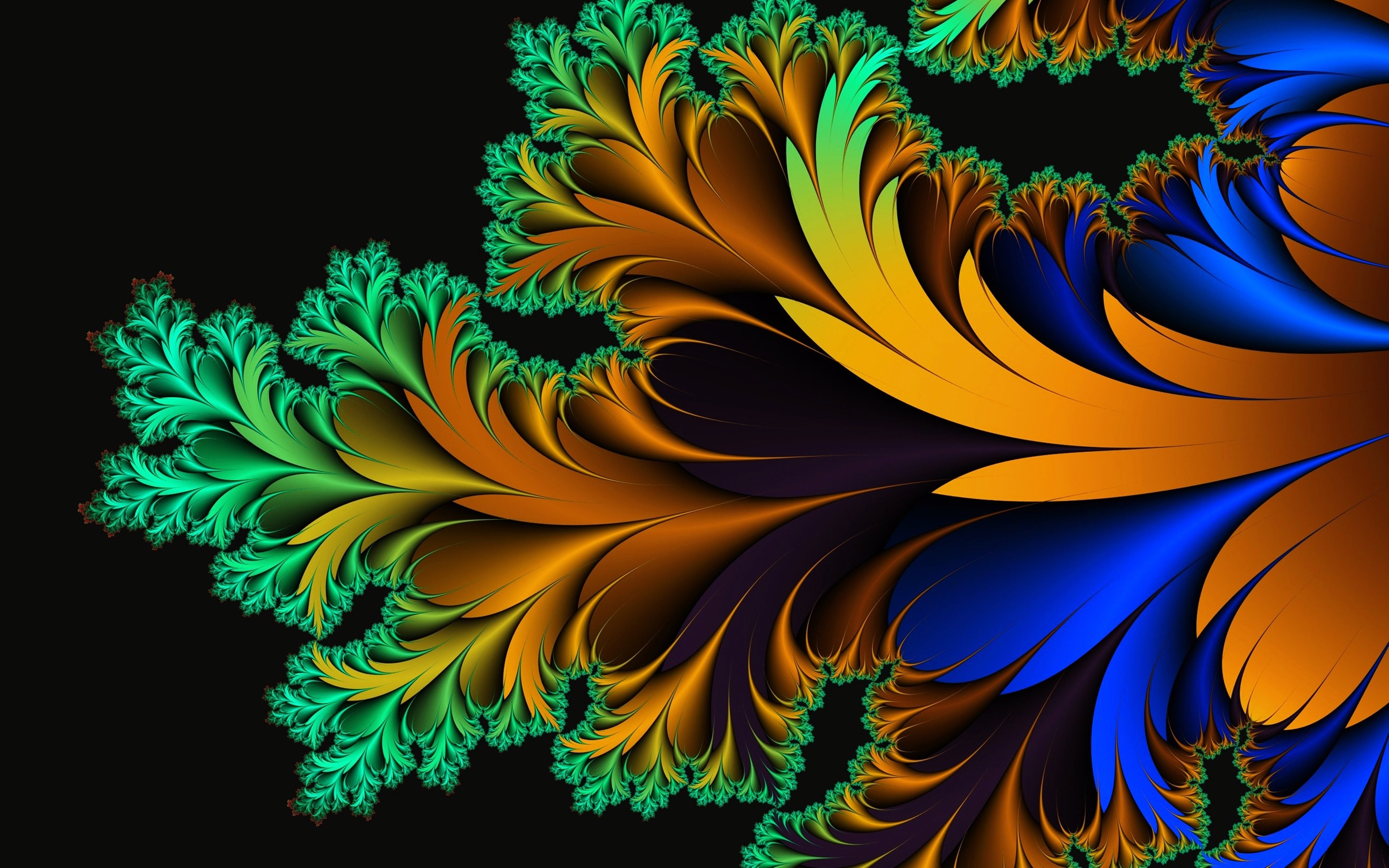 17064 abstract feather wallpapers 3840x2400