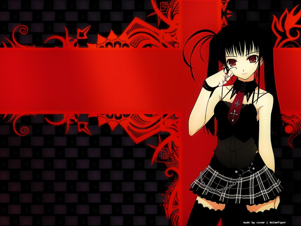 Dark Gothic Girl Anime the best wallpapers of the web 1024x768