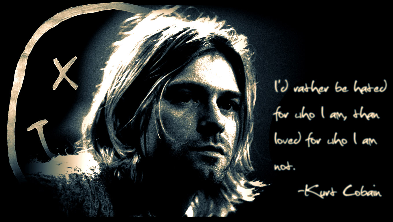 Kurt Cobain Quotes Desktop Images Best Wallpapers 1360x768