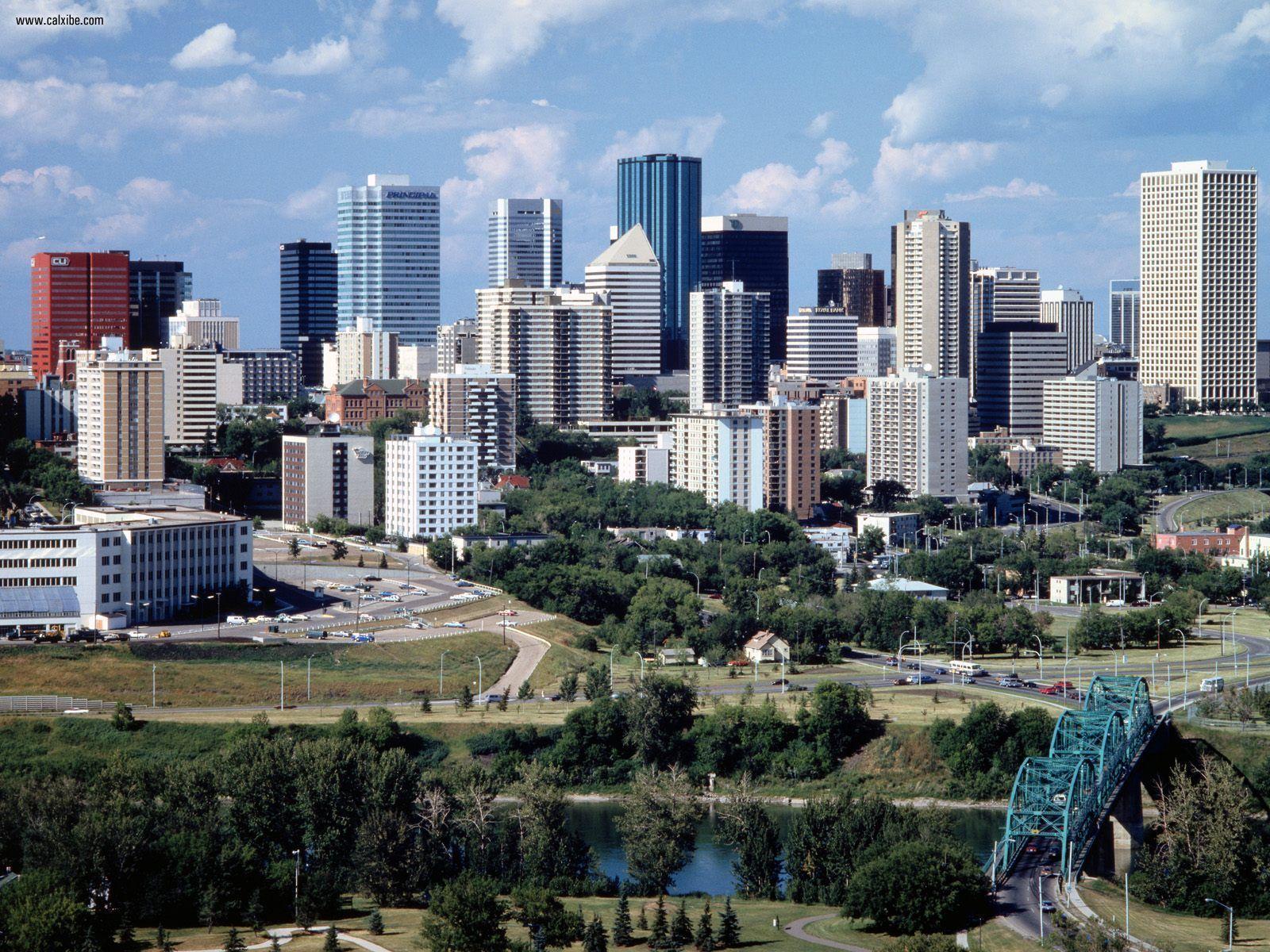 Buildings City Edmonton Alberta Canada desktop wallpaper nr 19305 1600x1200