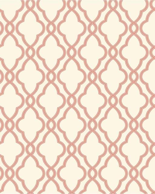 Hampton Trellis Wallpaper Coral   Transitional   Wallpaper   houston 512x640