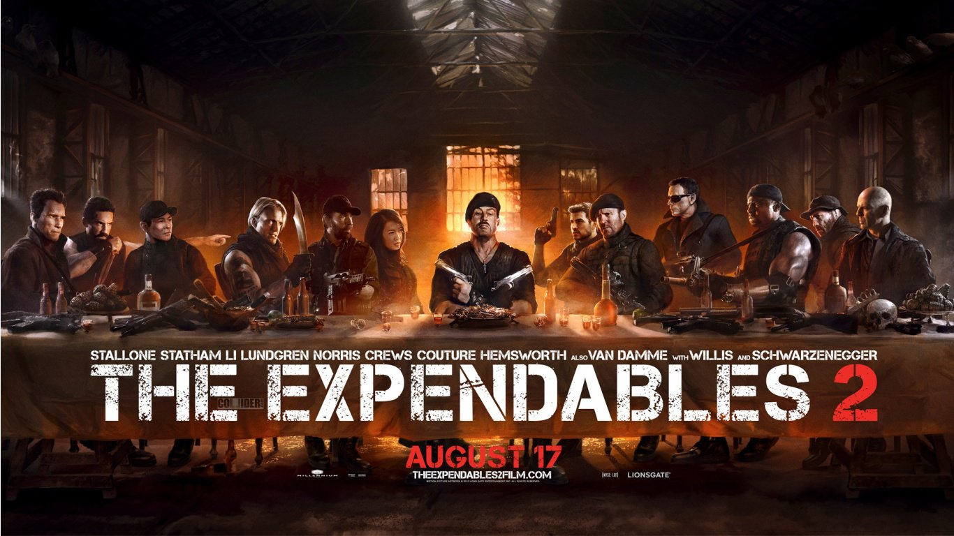 Expendables 2 The Last Supper HD Wallpaper Slwallpapers 1366x768
