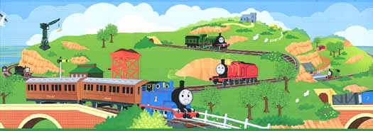 Thomas the Train Wallpaper - WallpaperSafari Thomas And Friends Wallpaper Border