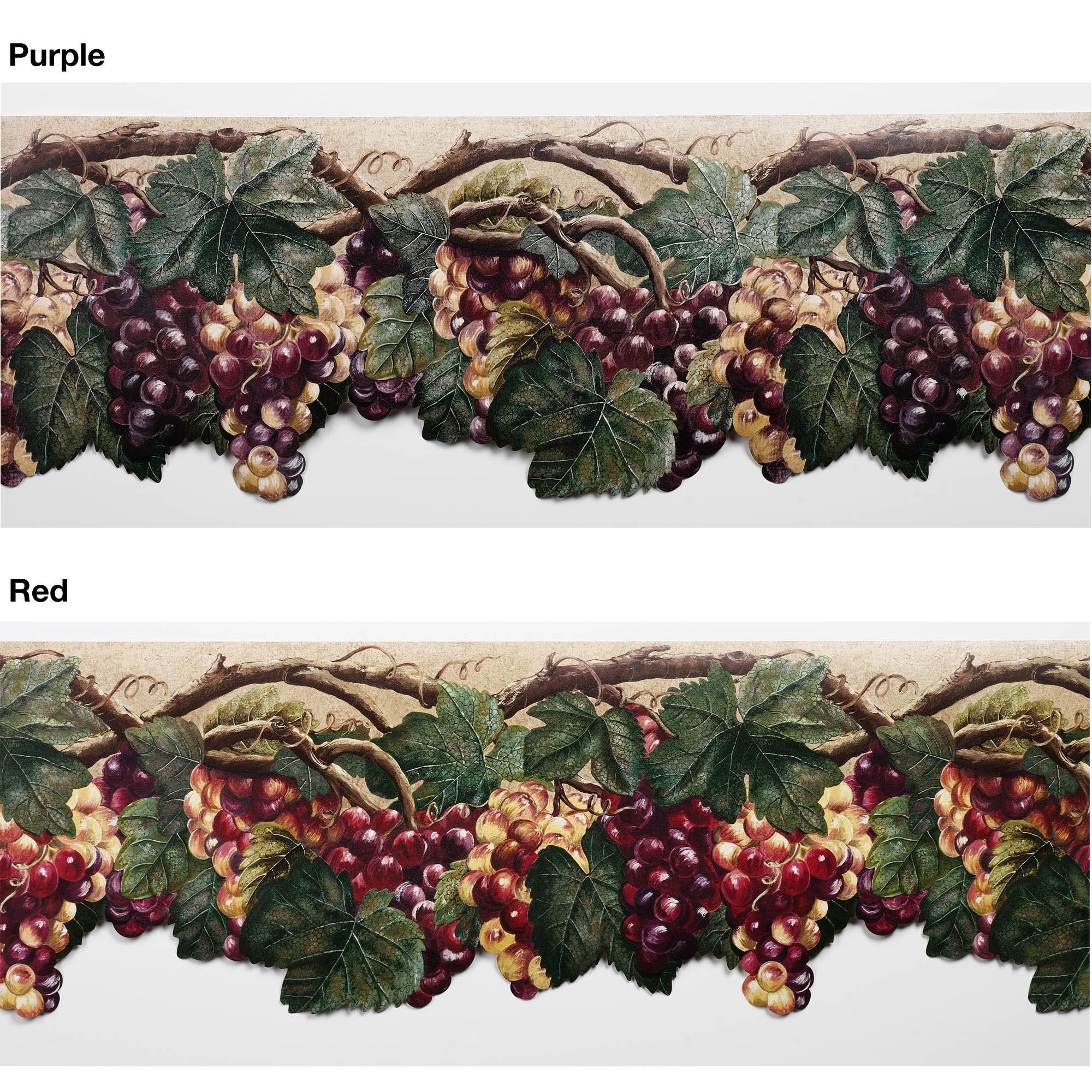 Wallpaper Border Grapes