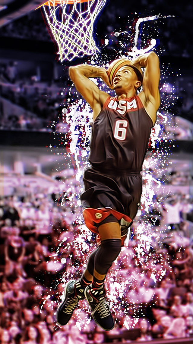 Derrick Rose Iphone Wallpaper by redzero03 640x1136